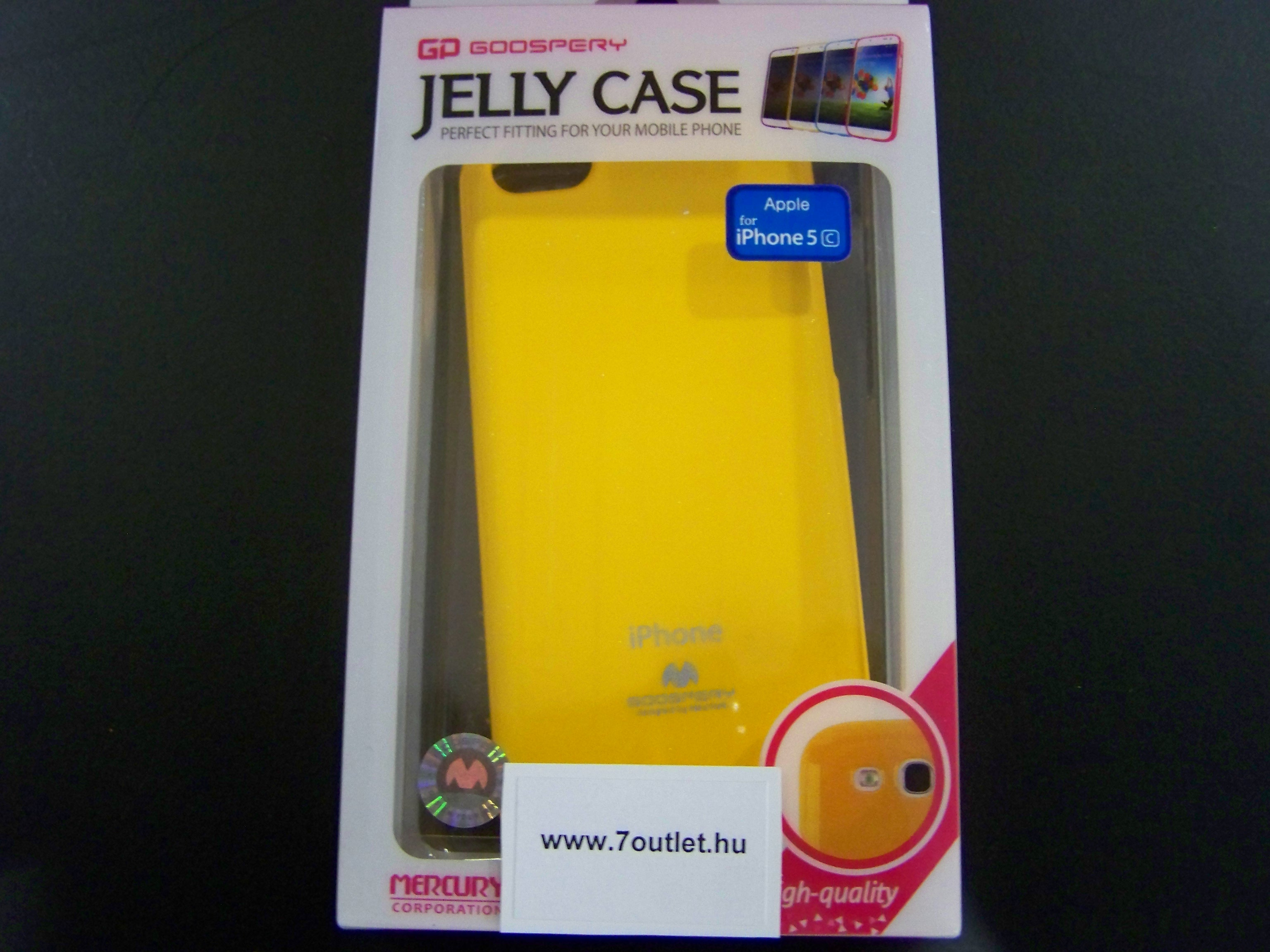 iPhone 5C Jelly Case sárga