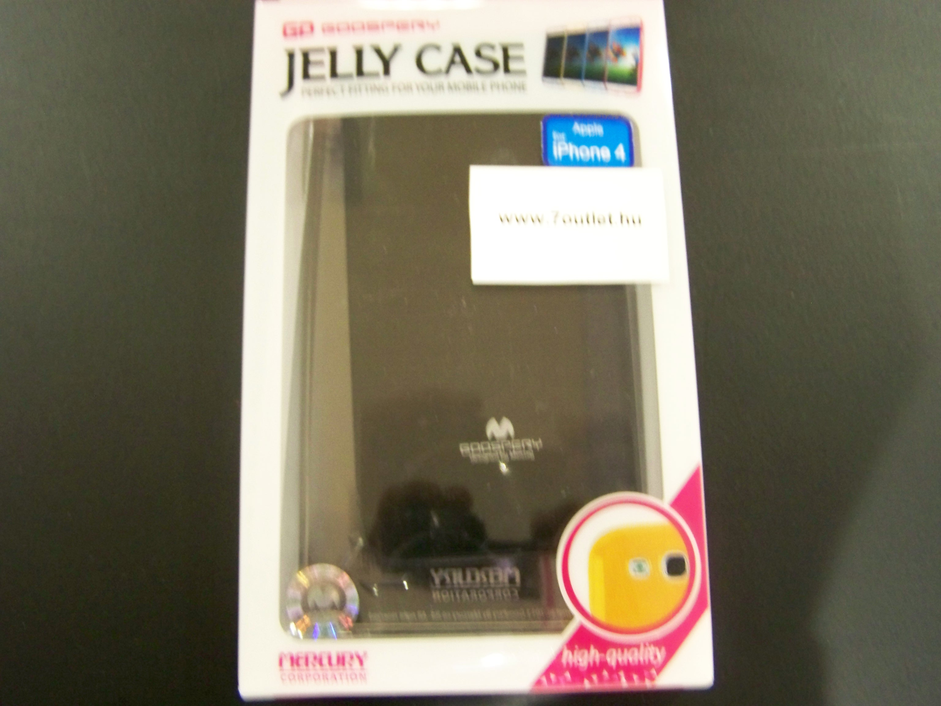 iPhone 4,4S Jelly Case fekete