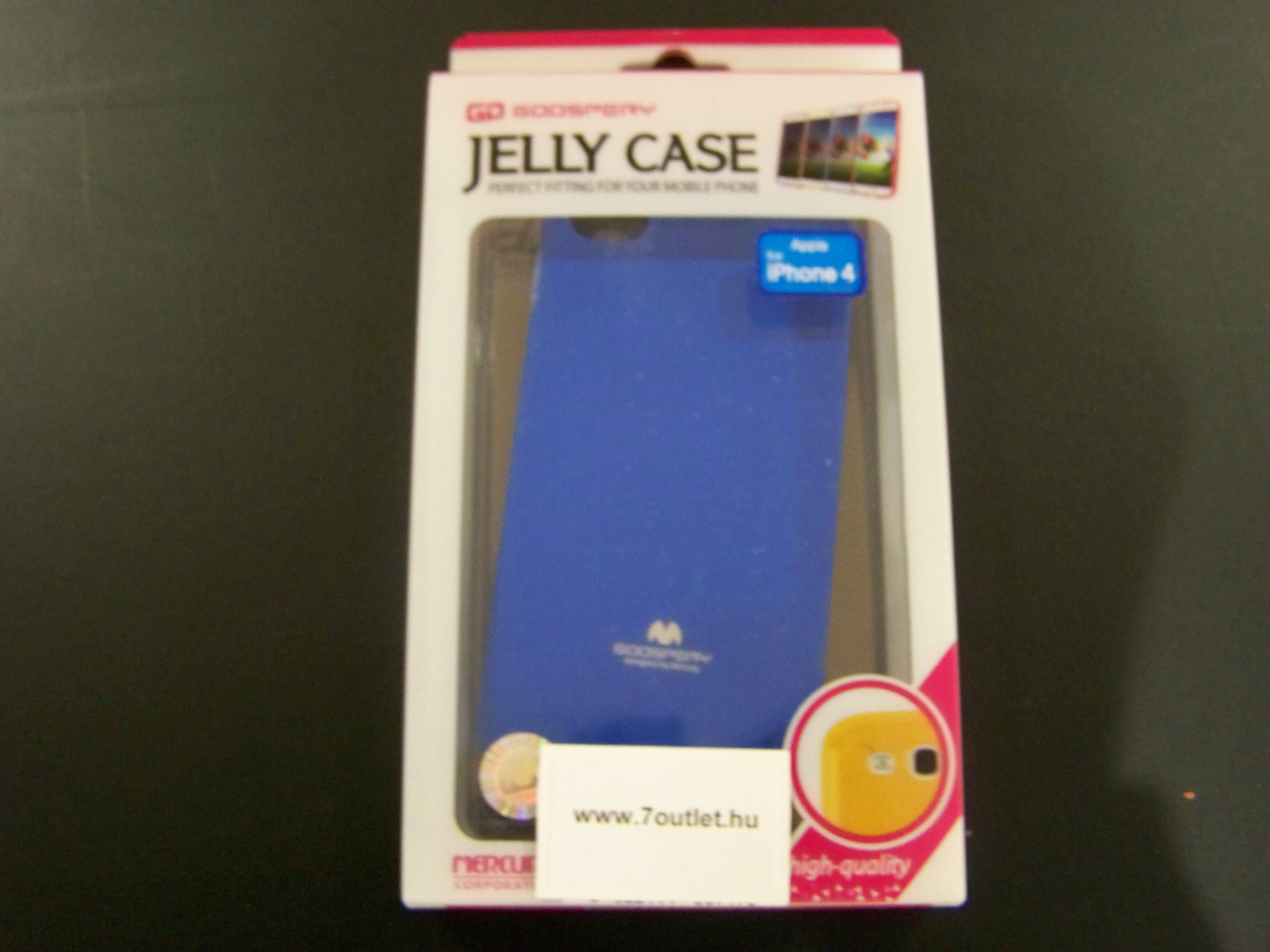 iPhone 4,4S Jelly Case kék