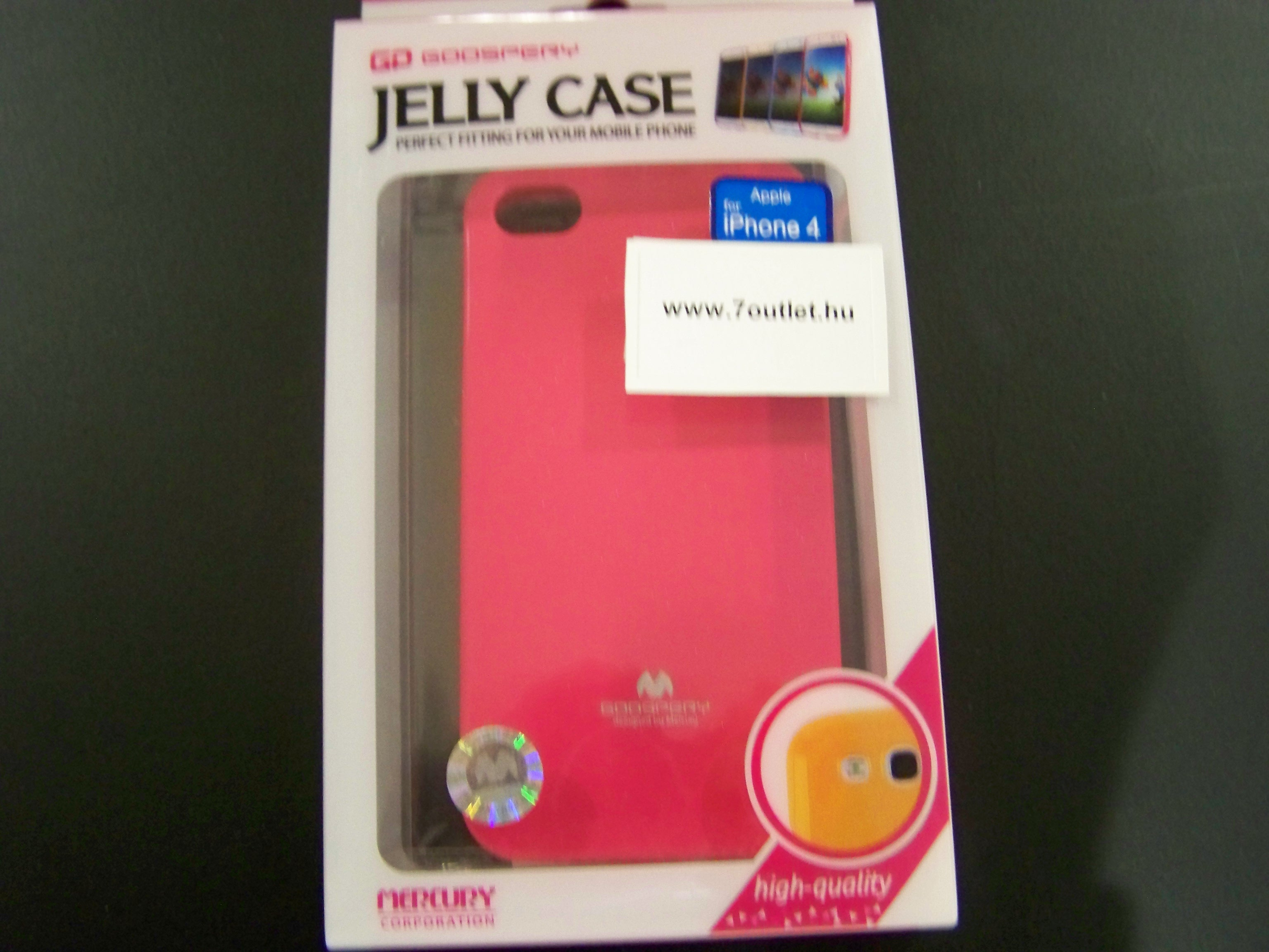 iPhone 4,4S Jelly Case pink