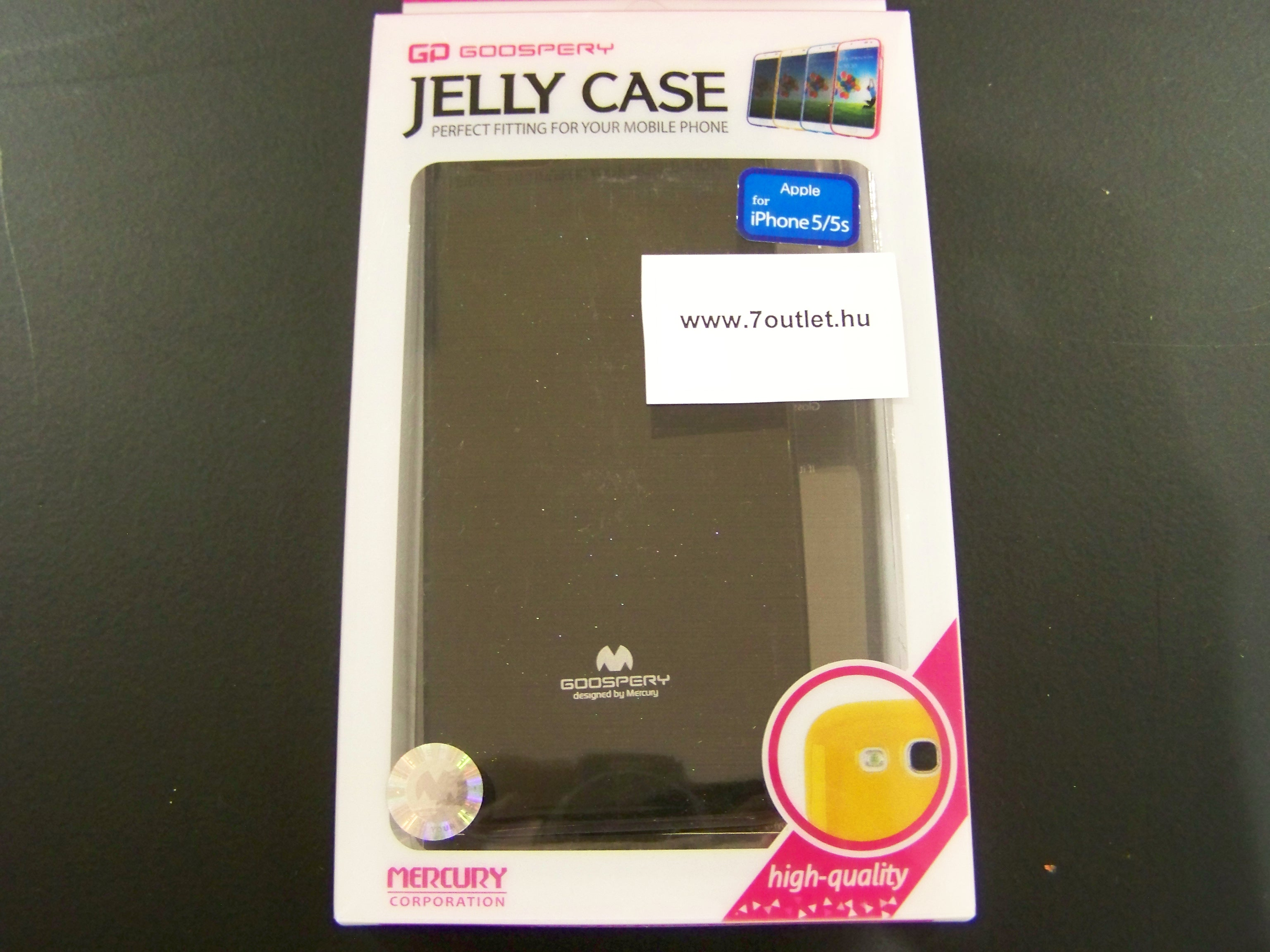 iPhone 5,5S Jelly Case fekete