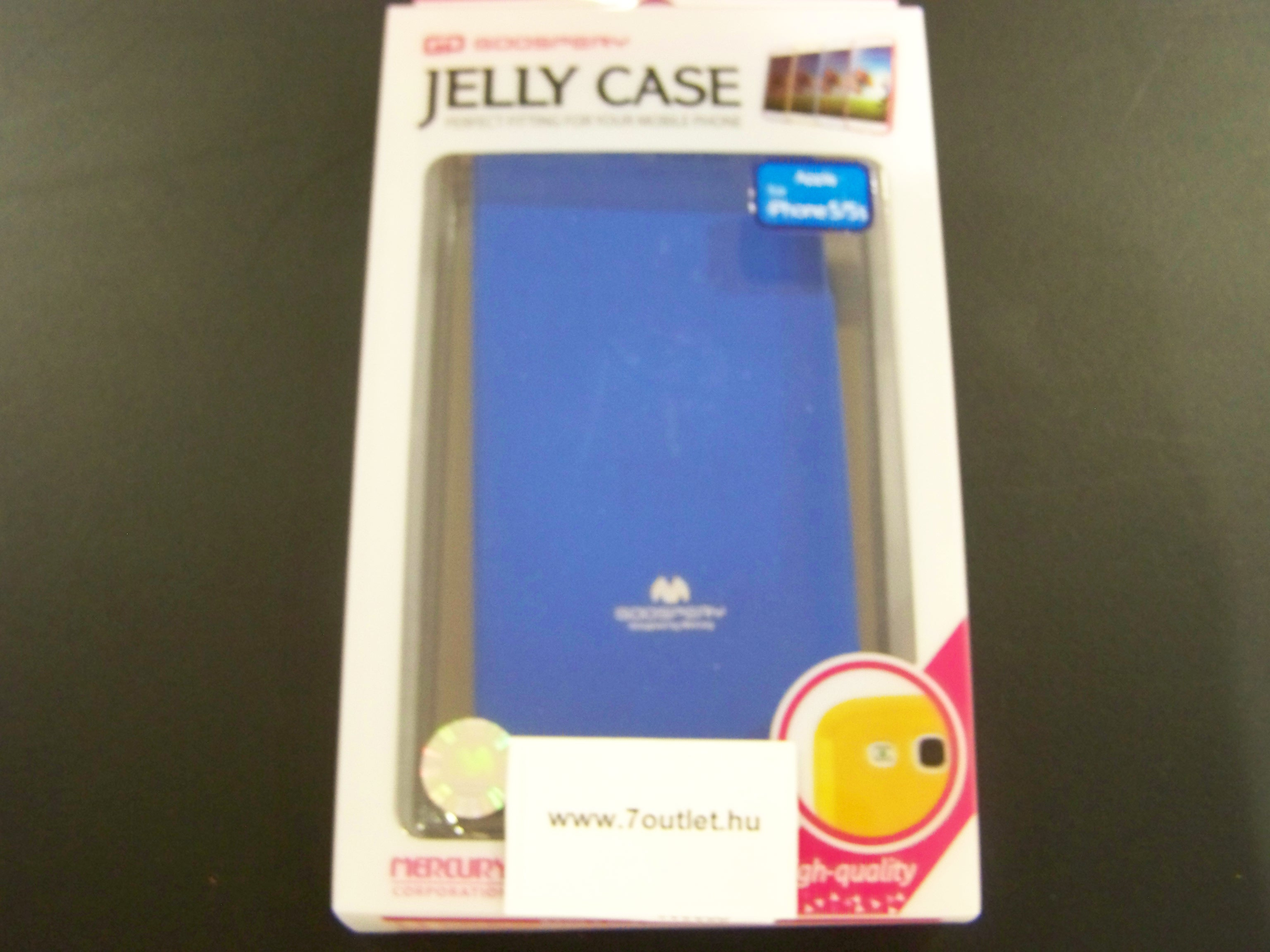 iPhone 5,5S Jelly Case kék