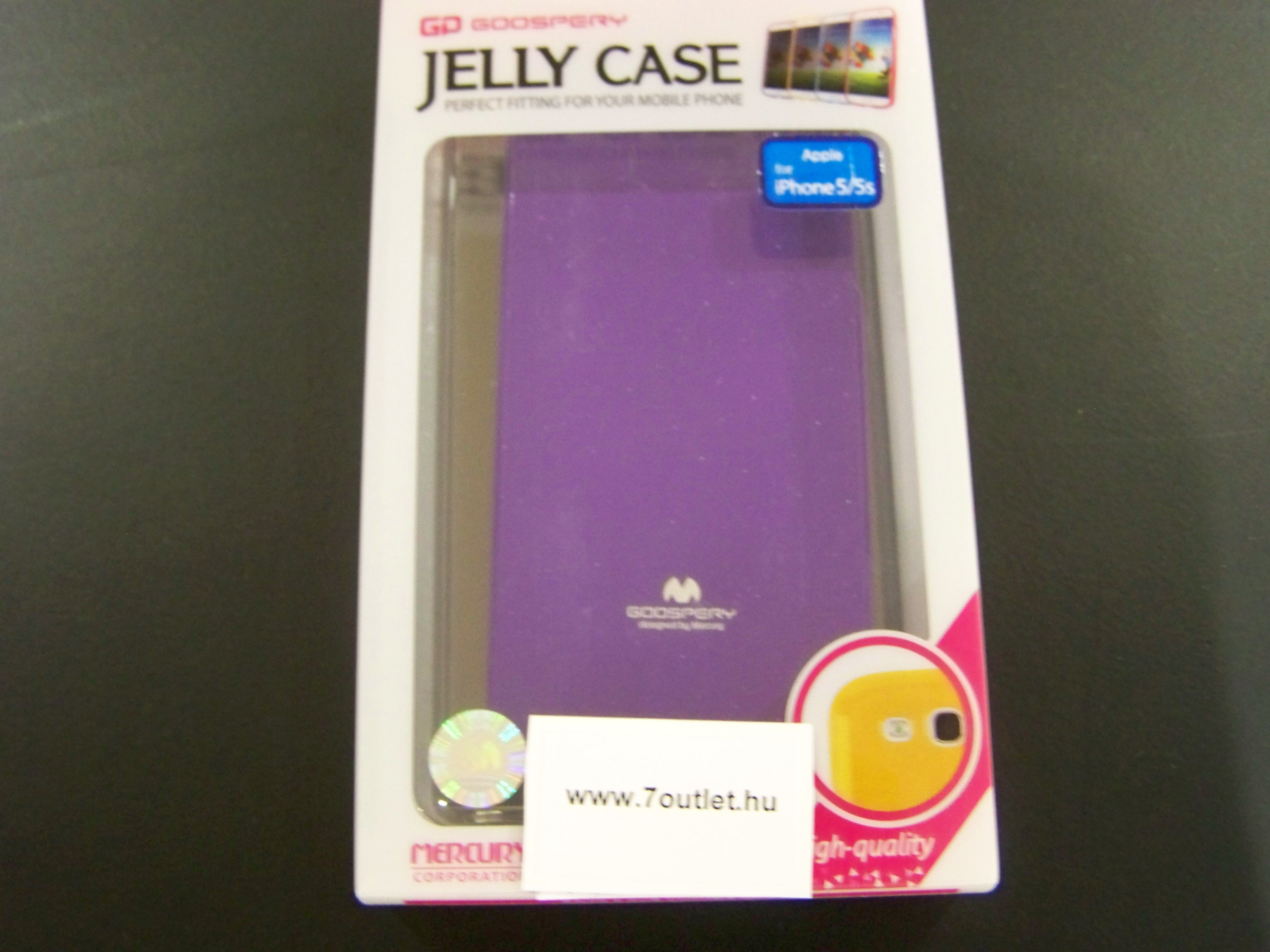 iPhone 5,5S Jelly Case lila