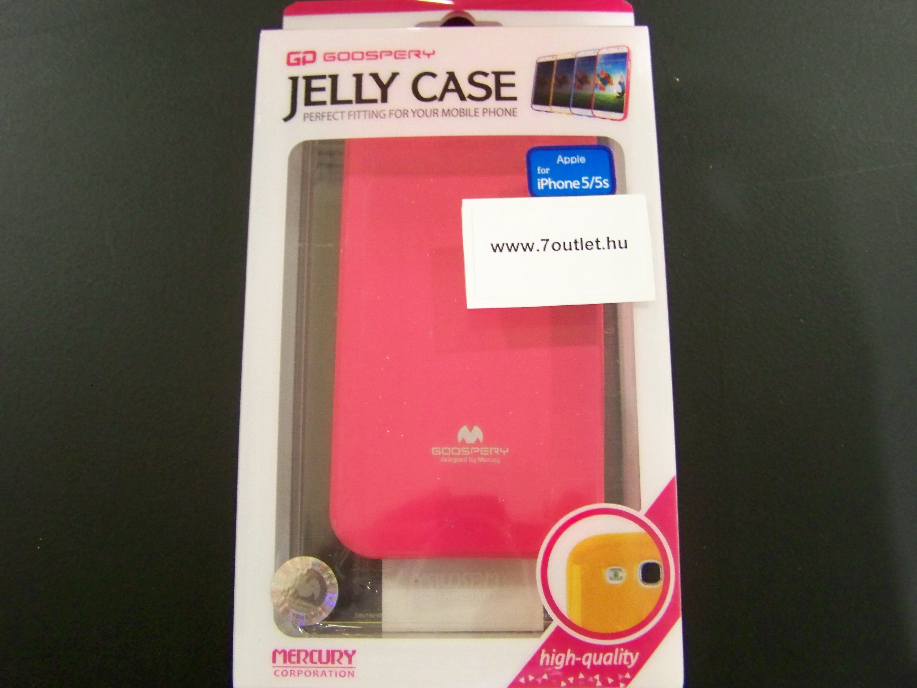 iPhone 5,5S Jelly Case pink